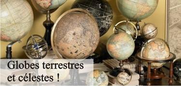 Globes et objets du cartographe