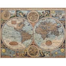 Carte du monde ancienne sur toile - 1626