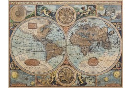 Carte du monde ancienne sur toile