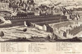 Marseille carte ancienne vue sur l'arsenal