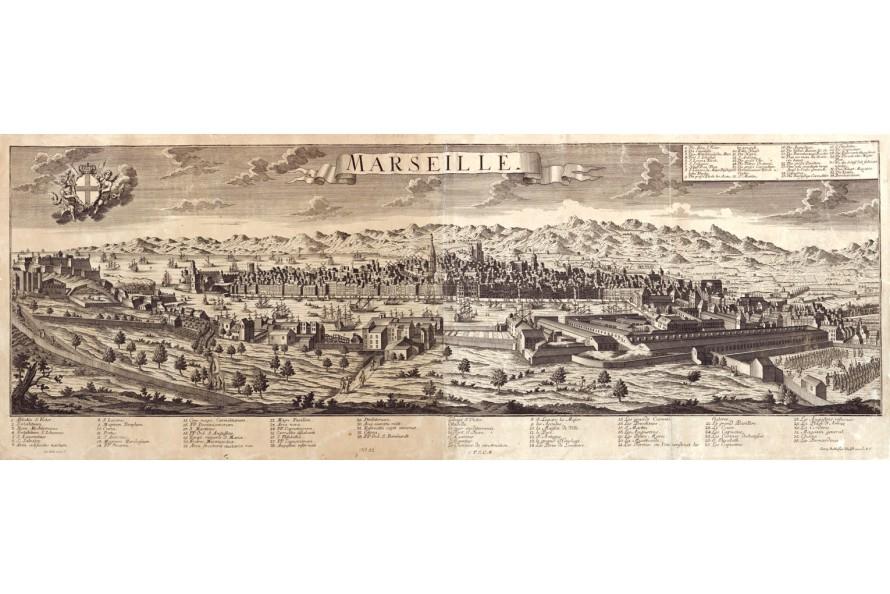 Marseille carte ancienne