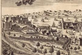 Marseille carte ancienne vue sur la citadelle