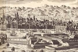 Marseille carte ancienne vue sur le vieux port