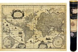 Carte ancienne du monde en 1645 Blaeu