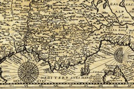 Carte de France ancienne en 1592