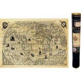 Mappemonde en 1550