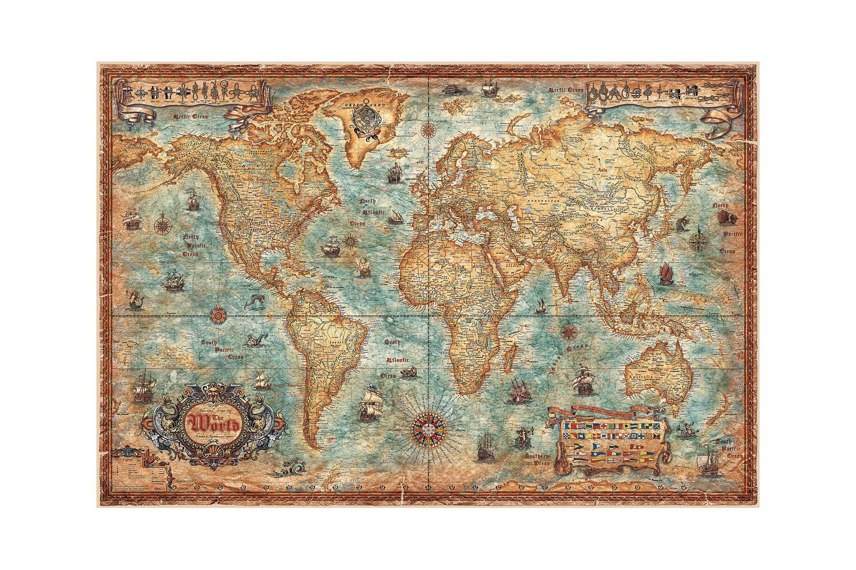 Mappemonde vintage