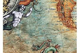 "Carte du monde ""aspect vieilli"""