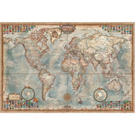 Carte du monde moderne Vintage