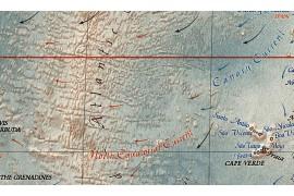 Carte géographique du monde moderne