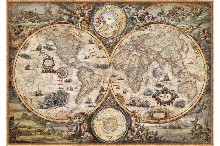 Carte géographique moderne baroque