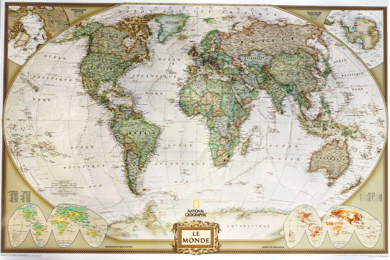 Carte Du Monde National Geographic.Carte Moderne National Geographic