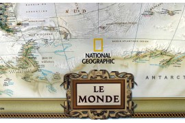 "Carte moderne National Geographic ""Vintage"""