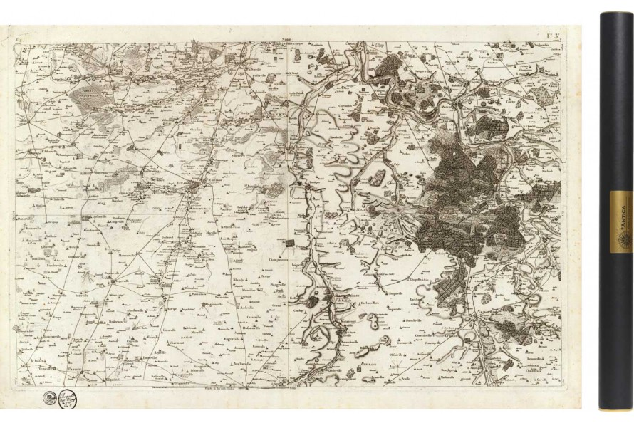 Carte de Cassini 007 - Fontainebleau
