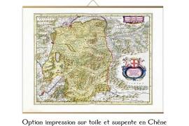 Carte ancienne de Savoie en 1665