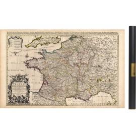 Carte de France ancienne de 1708