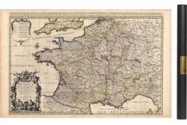 Carte de France ancienne 1708