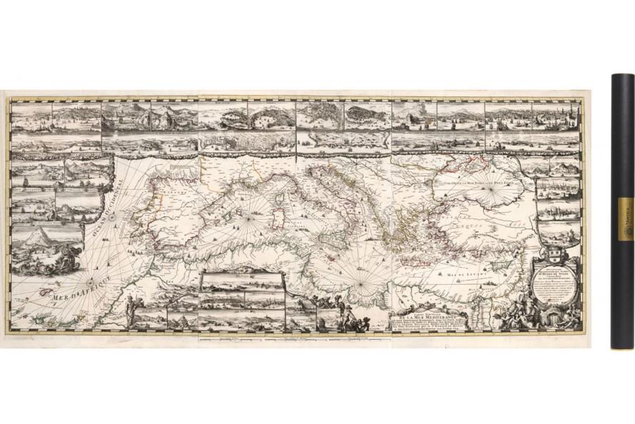 Carte ancienne de la Méditerranée 1693