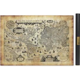 Carte du monde ancienne en 1623