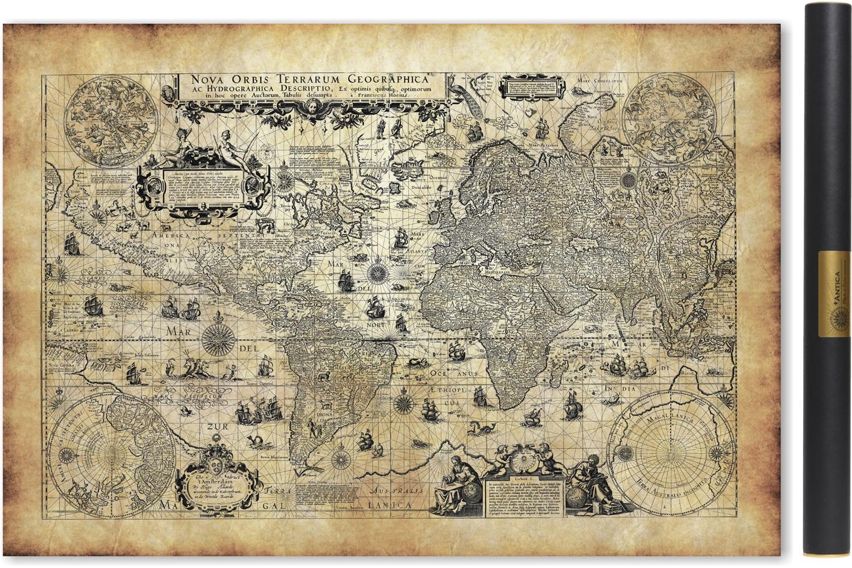 Carte ancienne du monde en 1623