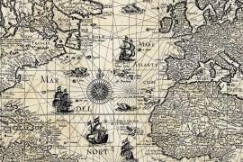 carte du monde ancienne aspect vielli