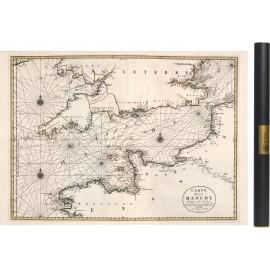 Carte de la manche de 1693