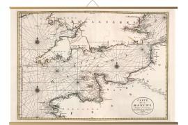 Carte ancienne de la Manche en 1693