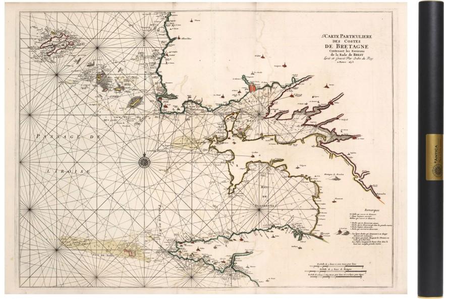 Carte du Finistere en 1693