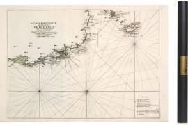 Carte de l'Anse de Goulven à Ouessant en 1693