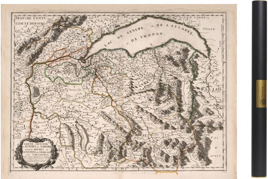 Carte ancienne de Savoie - Partie Nord 1663