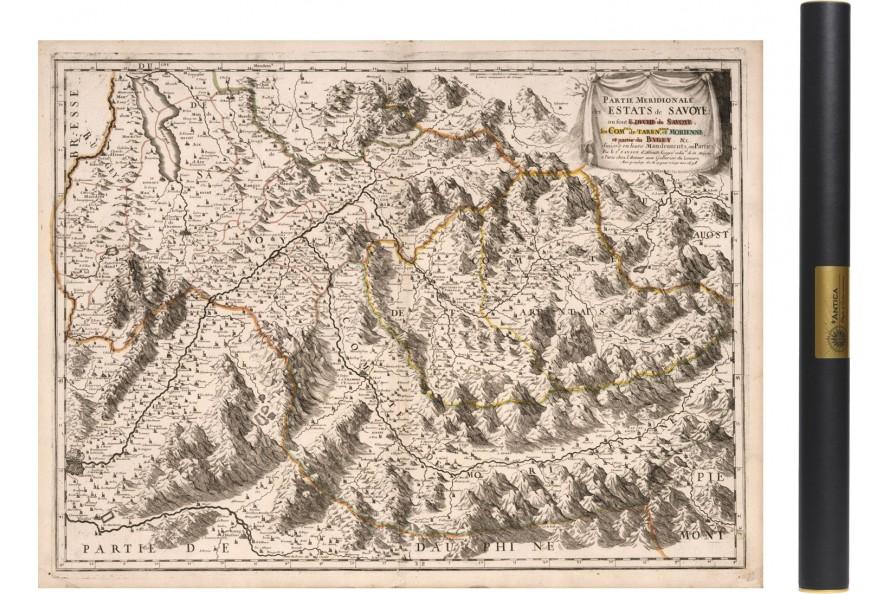 Carte ancienne de Savoie - Partie Sud 1663