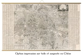 Grande carte de Paris en 1766 au temps de Louis XV