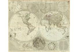 Grande carte du Monde en 1787, Mappemonde ancienne