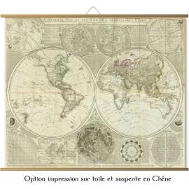 Grande carte du Monde en 1787