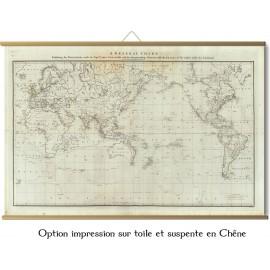 Monde en 1785 - Expéditions du capitaine Cook