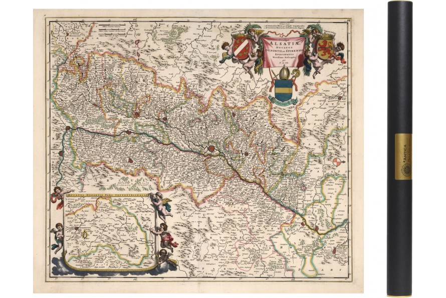 Carte Lalsace.Carte De L Alsace En 1682