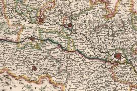 Carte ancienne de l'Alsace 1682