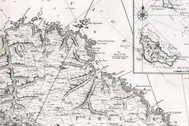 Carte ancienne de Belle-Ile-en-Mer en 1761