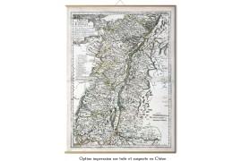 Carte ancienne de l'Alsace 1702