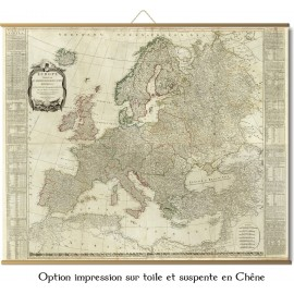 Grande carte d'Europe en 1787