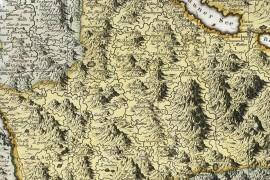 Grande carte de la Suisse en 1788 ou confédération Helvétique