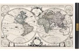 Mappemonde ancienne effet vieilli ou vintage 1708
