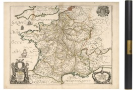 Carte des postes en 1691
