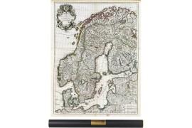 Carte de la scandinavie en 1706