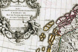 Carte de la scandinavie en 1706