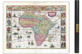 carte ancienne d'Afrique en 1665 par Johan Blaeu