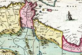 carte ancienne d'Afrique du Nord, en 1665 par Johan Blaeu, Barbaresque, Berbères