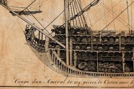 Vaisseau de premier rang - Plan de 1685 Marine royale louis XIV