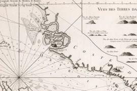Carte ancienne du Détroit de Singapour et Malacca en 1755