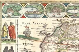 carte ancienne de l'Afrique en 1630 par Willem Blaeu